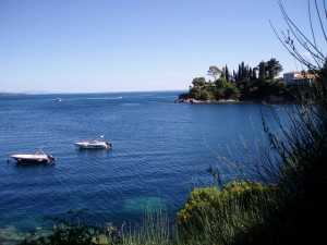 A bay in Corfu